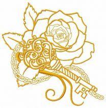Rose and vintage key 4