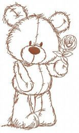 Rose for you embroidery design 2