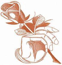 Rose in hand sketch