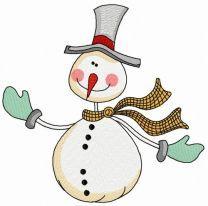 Ruddy snowman