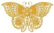 Sad eyes butterfly embroidery design