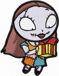 Sally with Christmas Gift
