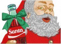 Santa present bottle embroidery design