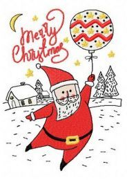 Santa with balloon 2