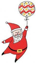 Santa with balloon 3