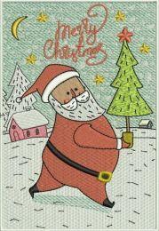 Santa with fir-tree