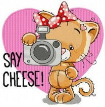 Say cheese machine embroidery design