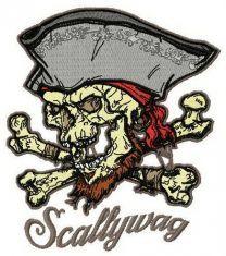 Scallywag machine embroidery design