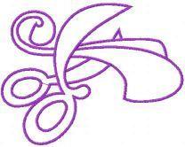 Violet scissors