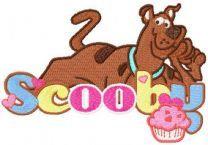 Scooby Doo Happy embroidery design