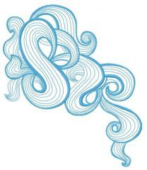 Sea waves embroidery design