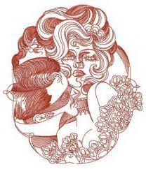 Secret lover embroidery design