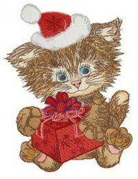 Shaggy Santa embroidery design
