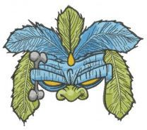 Shaman mask embroidery design