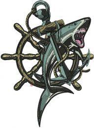 Shark and anchor