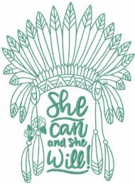 She will embroidery design