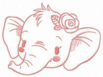 Shy elephant muzzle
