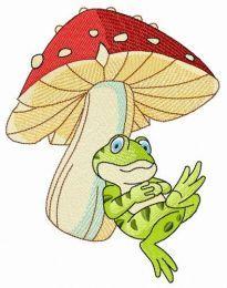 Siesta under mushroom