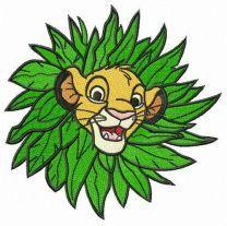 Simba in leaf collar