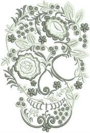 Skull from flowers and berries