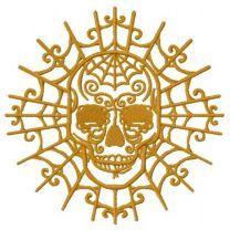Skull with decorative web