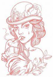 Smoking lady 4
