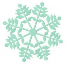 Snowflake machine embroidery design 13