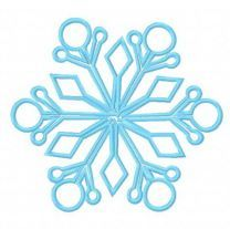 Snowflake machine embroidery design 15