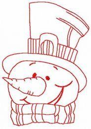 Snowman in top hat 5