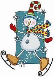 Snowman skating