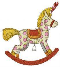 Spotty rocking horse
