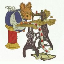 Squirrel sewing 2