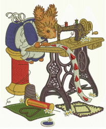 Squirrel sewing