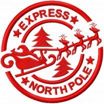 Stamp Express north pole embroidery design