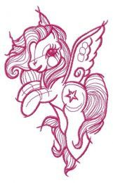 Star Swirl sketch embroidery design