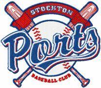 Stockton Ports logo machine embroidery design
