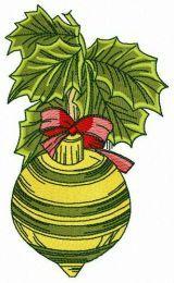 Striped Christmas ball