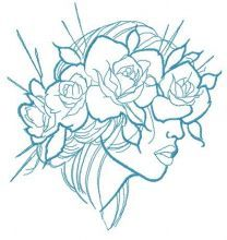 Summer mood one color embroidery design