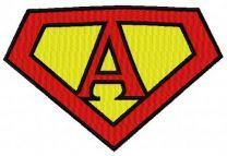 Superman alphabet letter A