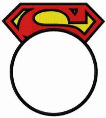 Superman round monogram