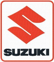 Suzuki logo machine embroidery design