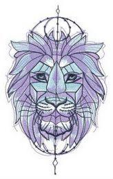 Symmetrical lion