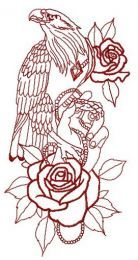 Tamed eagle embroidery design 2