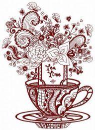 Tea time post card 2