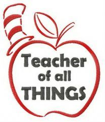 Teacher of all THINGS embroidery design