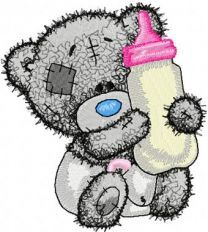 Teddy Bear with a bottle of milk