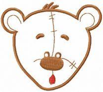 Teddy bear applique 2