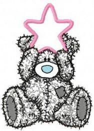 Teddy Bear Happy Christmas applique
