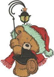 Teddy bear with lantern