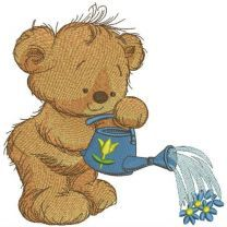 Teddy bear with watering can 7